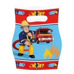 Sacs cadeaux Sam le pompier (x8)