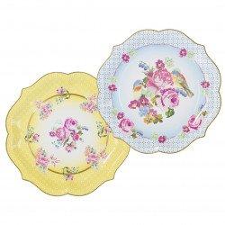 Plats fleuris (x4)