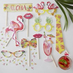 Kit photobooth fiesta tropicale