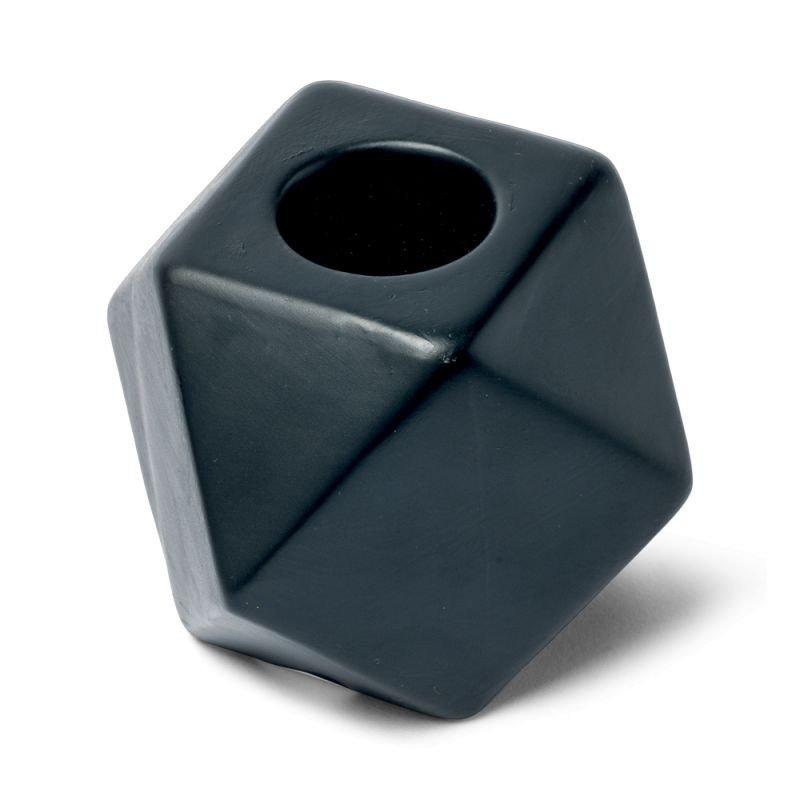 Bougeoir octogonal couleur noir