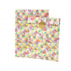 sachet papier géométrique - 12 unités
