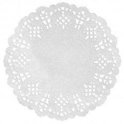 Napperons papier dentelle (x10) - Blanc