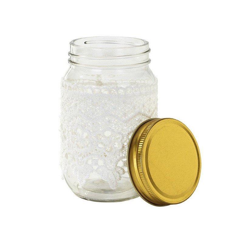 vase avec dentelle blanche