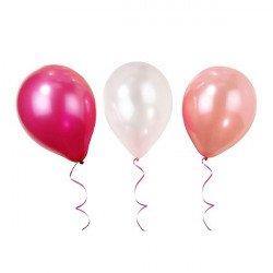 Ballons nuances de roses (x12)