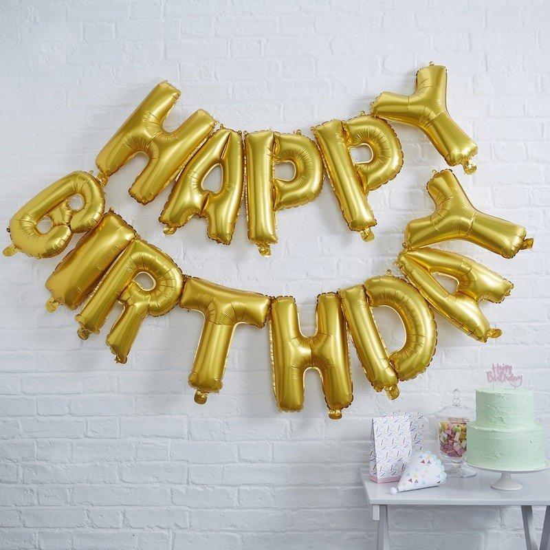 ballon happy birthday lettres