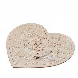 Livre d'or puzzle coeur - 49 cm