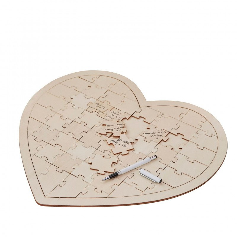 livre d'or coeur sous forme d'un puzzle