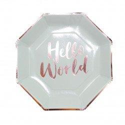 "Assiettes ""Hello World"" (x8)"