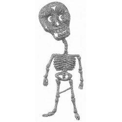 2 Squelettes argentés pailleté