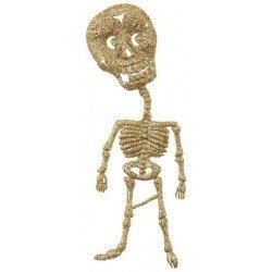 2 squelettes dorés pailleté