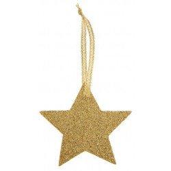 Étoiles pailletées or ou argent (x6)
