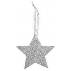 Étoiles pailletées or ou argent (x6) - Argent