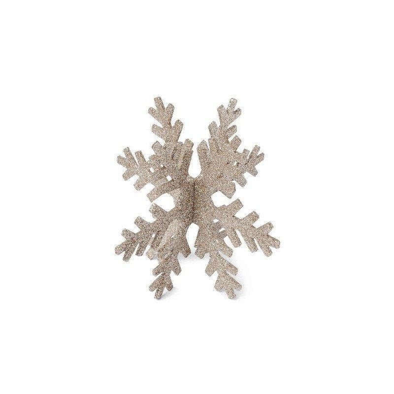 Grand flocon paillette cuivre - 15 cm