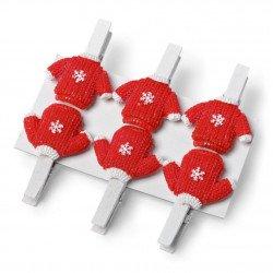 Pinces pull Noël (x6)