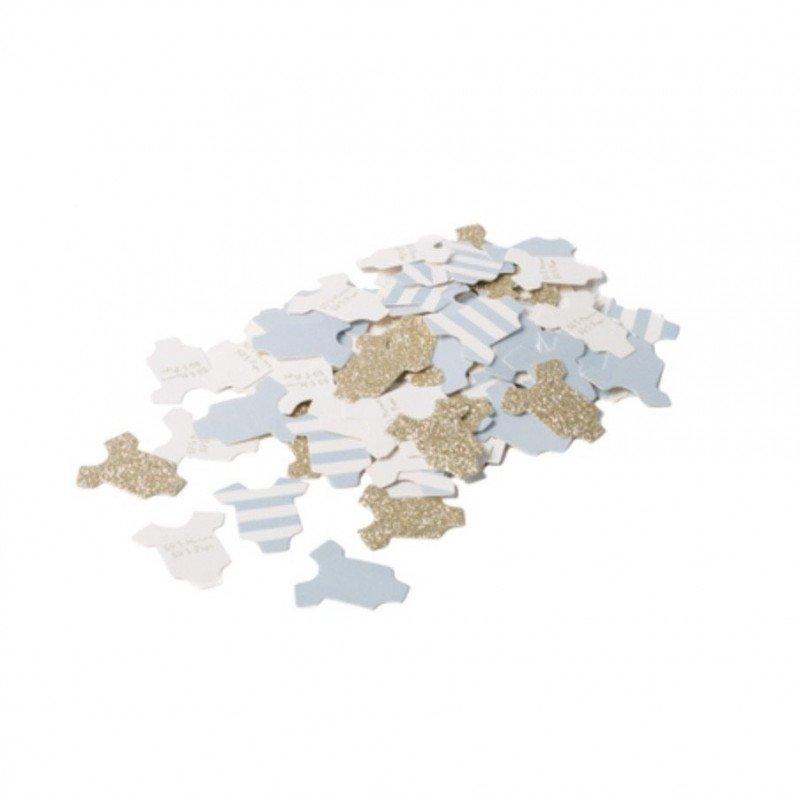 Confettis petit body de bébé bleu ciel 3CM