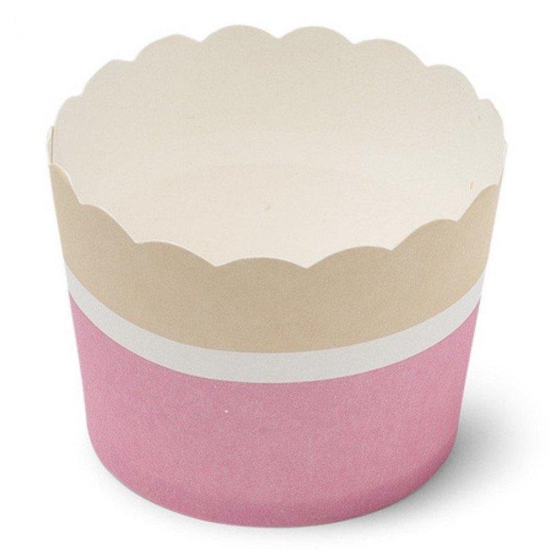 moule cupcakes en carton rose