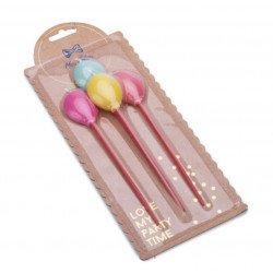 Bougies Ballons (x4)
