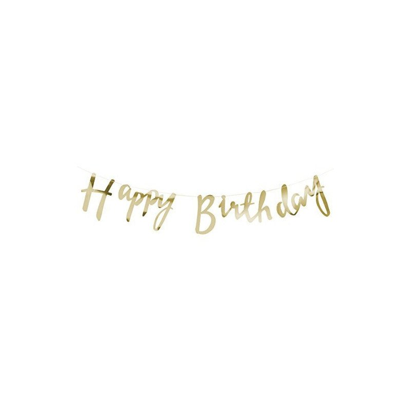 """Guirlande """"Happy Birthday"""" dorée"""