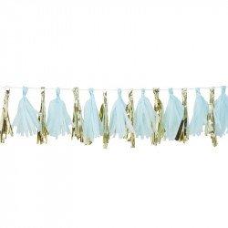 Guirlande à tassels Bleus & Gold