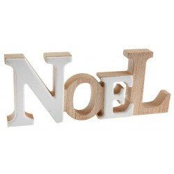 Lettres NOËL en bois et céramique - 22 cm