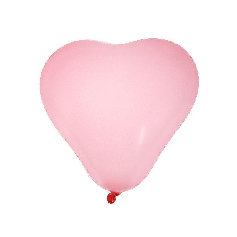 Ballons en forme de cœurs rose