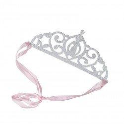 Couronnes de princesse glitter argent (x5)