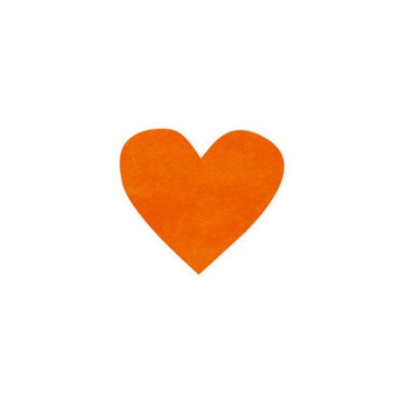 Confettis Coeur orange (x100)