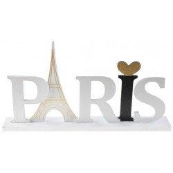 Lettres bois Paris sur socle