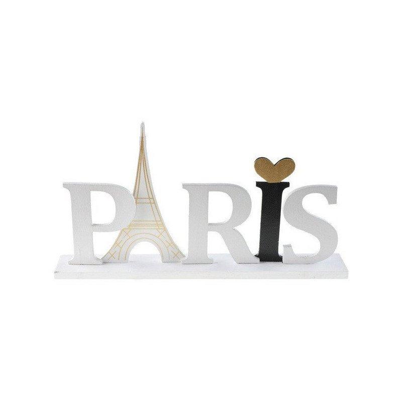 Lettres en bois Paris sur socle