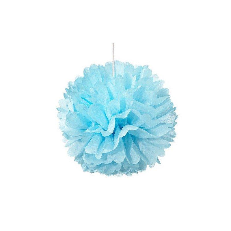 Pompon papier turquoise