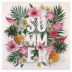 Serviettes Tropical (x20)