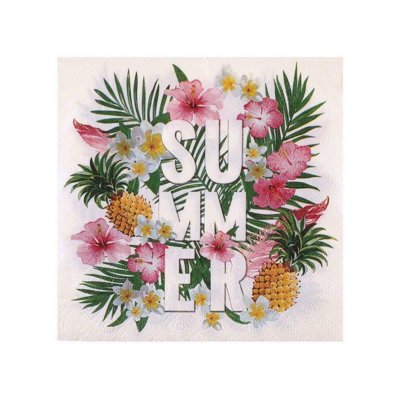 Serviettes Tropical (x20)