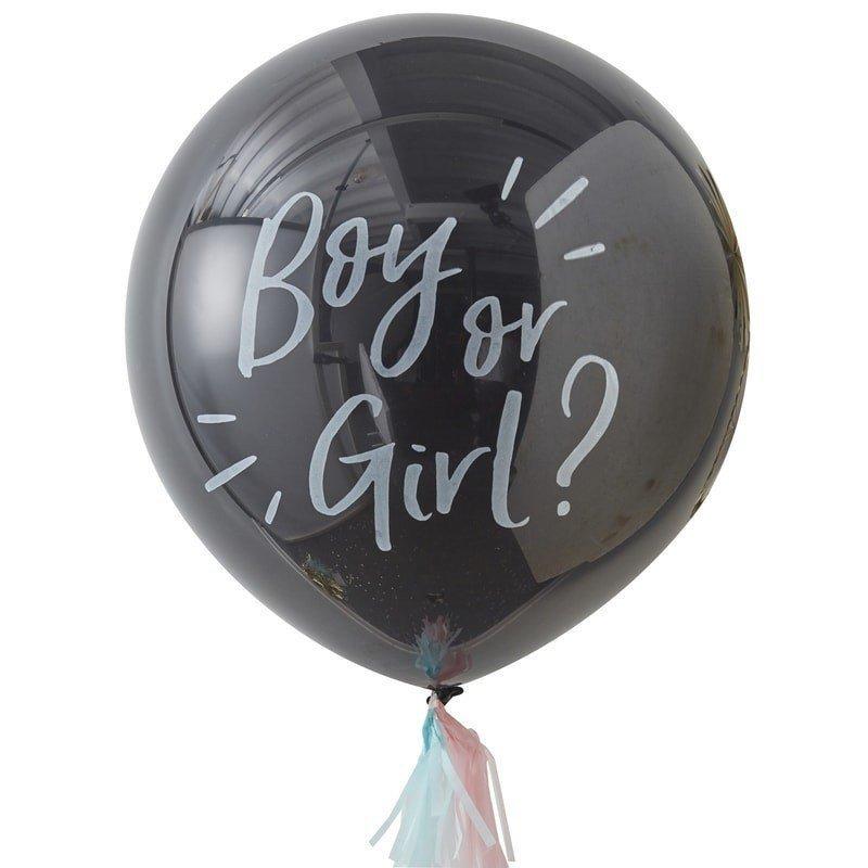 "Kit Ballon confettis ""Fille ou Garçon"" - 91 cm de diamètre"