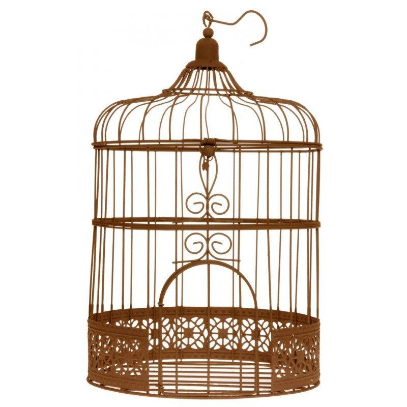 Tirelire Cage à oiseaux rouille