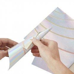 Serviettes licornes iridescentes (x10)