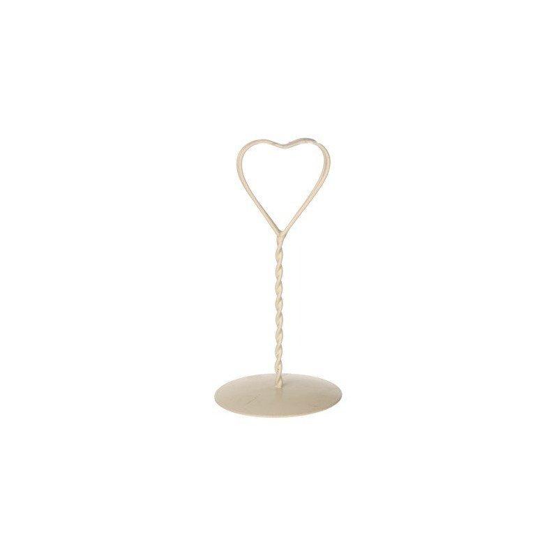 Marque table tressé coeur ivoire