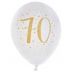 Ballons métallisés 70 ans (x8)
