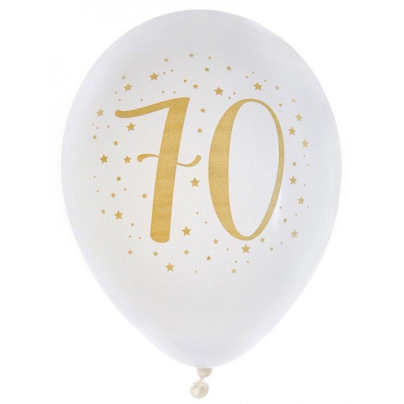 8 Ballons métallisés 70 ans