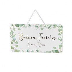 """Pancarte Eucalyptus """"Boissons fraîches"""""""