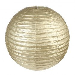 Lanterne métallisée Or - 35 cm