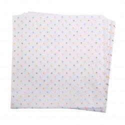 Serviettes pois pastel (x20)
