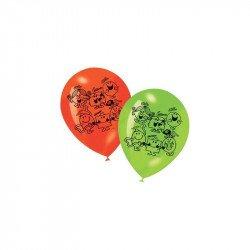 Ballons Monsieur Madame  4 couleurs (x6)