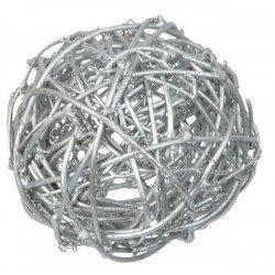 Boules en rotin (x10) - Argent