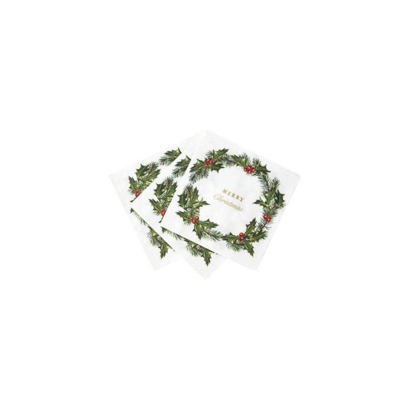 "20 Serviettes ""Merry Christmas"""