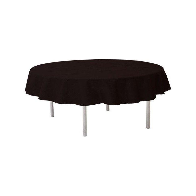 Nappe ronde unie noire