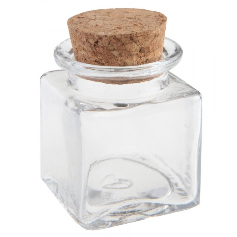 Petit Pot carré en verre