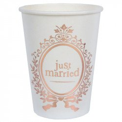 "Gobelets ""Just Married"" rose gold (x10)"