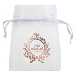 """Pochons """"Just Married"""" rose gold (x6)"""