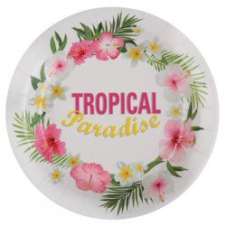 "Assiettes ""Tropical"" (x10)"