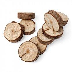 Rondins de bois naturel (x10)